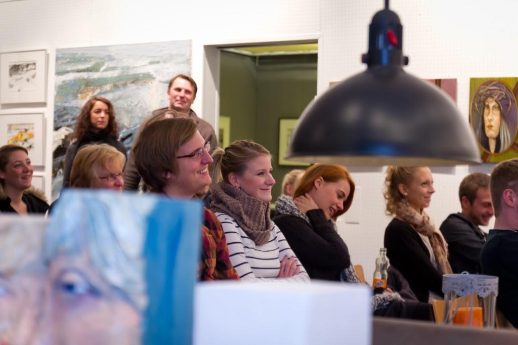 Publikum in der Werkstatt